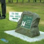 Greenore Golf Club Ireland Stone Tee Sign