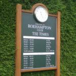 Roehampton Golf Club sign