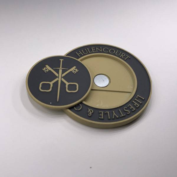 Enamelled Etched Circular Golf Placement Marker